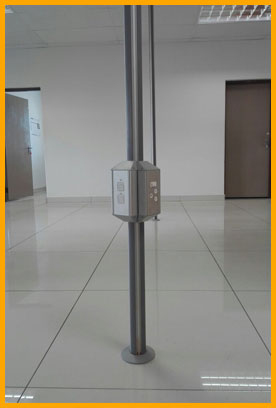 Aluminum power pole