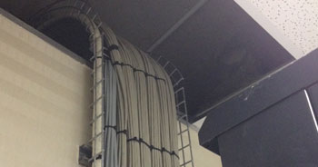 Cable tray wire mesh