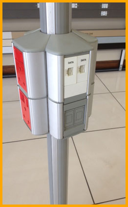 Ceiling power pole | Drop pole | Data pole | Johannesburg | Cape