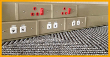 Metal steel power skirting