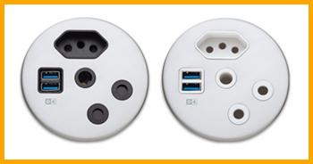 USB table outlet 3pin sa