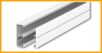 OBO Steel Double compartment power skirting