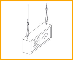 Gripple signage hanging solutions