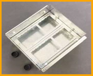 Stainless Steel recessed floor box